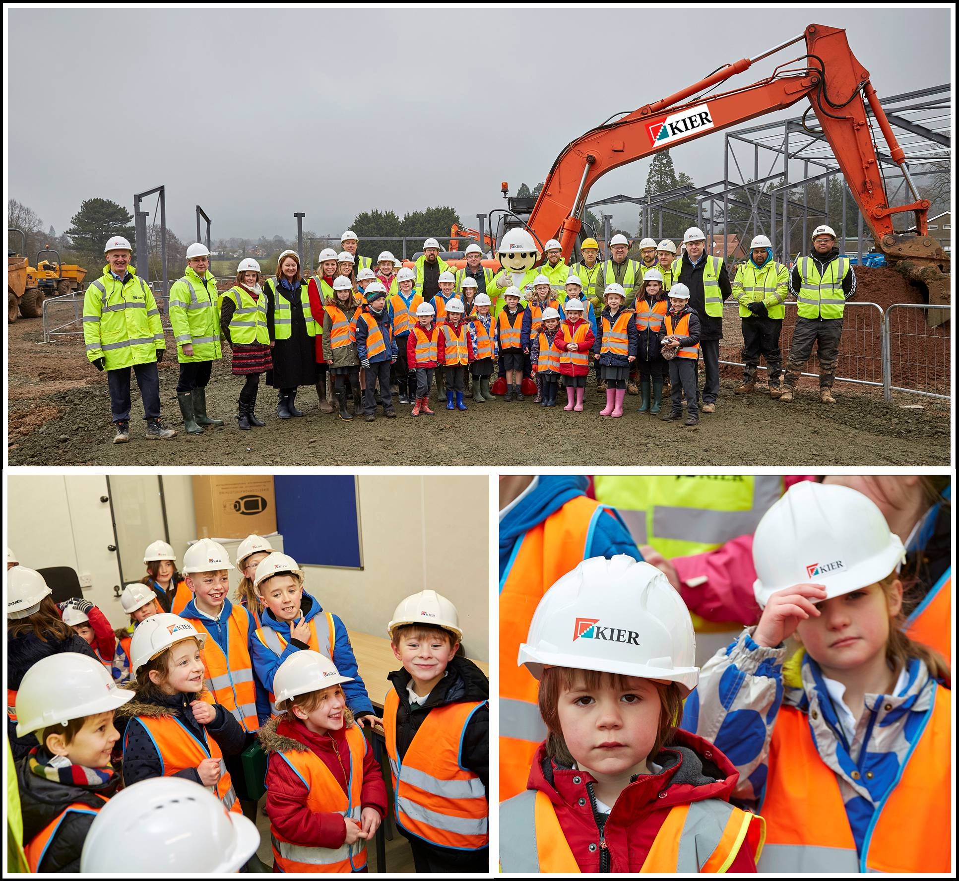 Colwall CE Primary School site visit (Photos courtesy of Kier Construction)