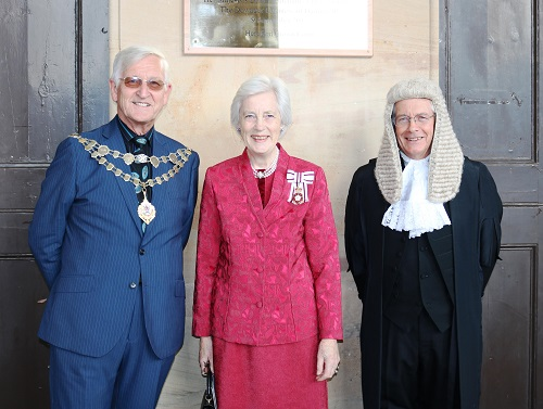 Her Majesty's Lord Lieutenant for HerefordshireThe Dowager Countess of Darnley JP, Councillor Brian Wilcox, Chairman of Herefordshire Council and Judge Judge Daniel Pearce-Higgins