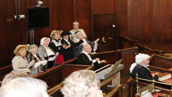 Hereford Gilbert and Sullivan society performing trial by Jury