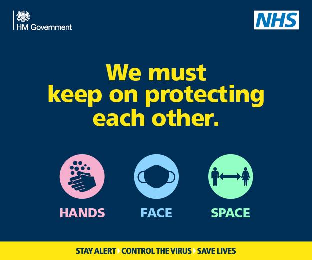 Graphic text you must keep on protecting each other