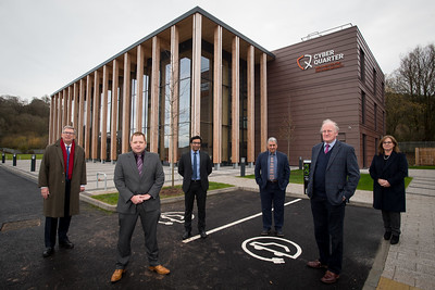 Partners standing outside new Cyber Security Centre