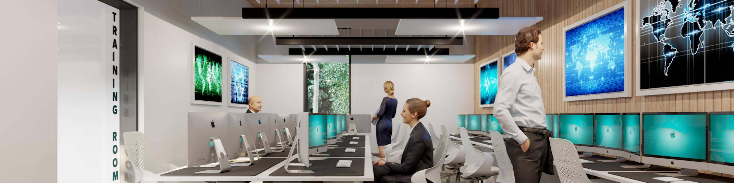 A cgi training room cyber security centre