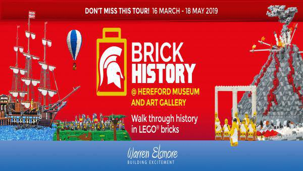 LEGO Brick History exhibition 16 March to 18 May 2019