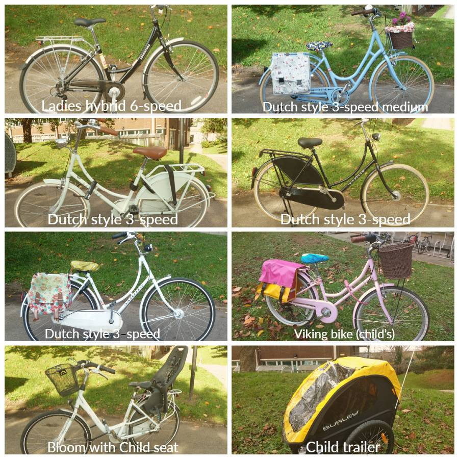 Types of bikes available to borrow