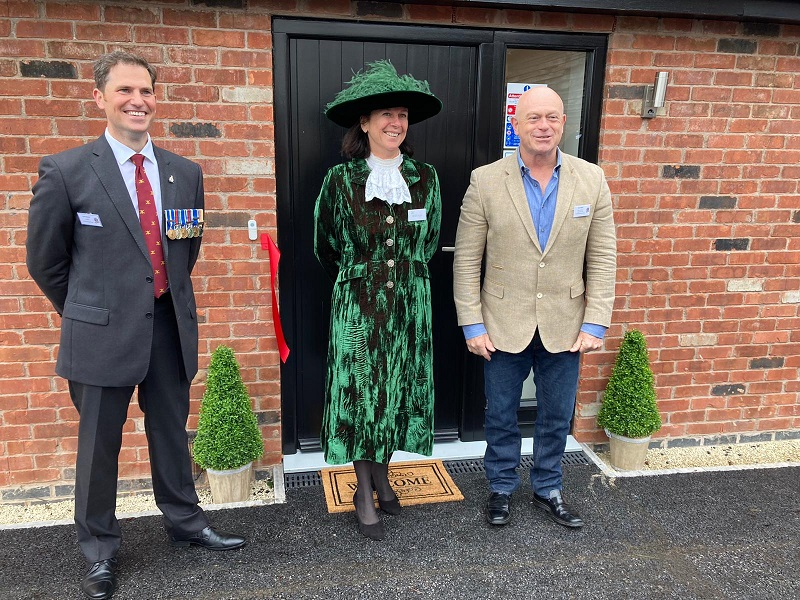 Actor Ross Kemp officially opens new housing for military veterans