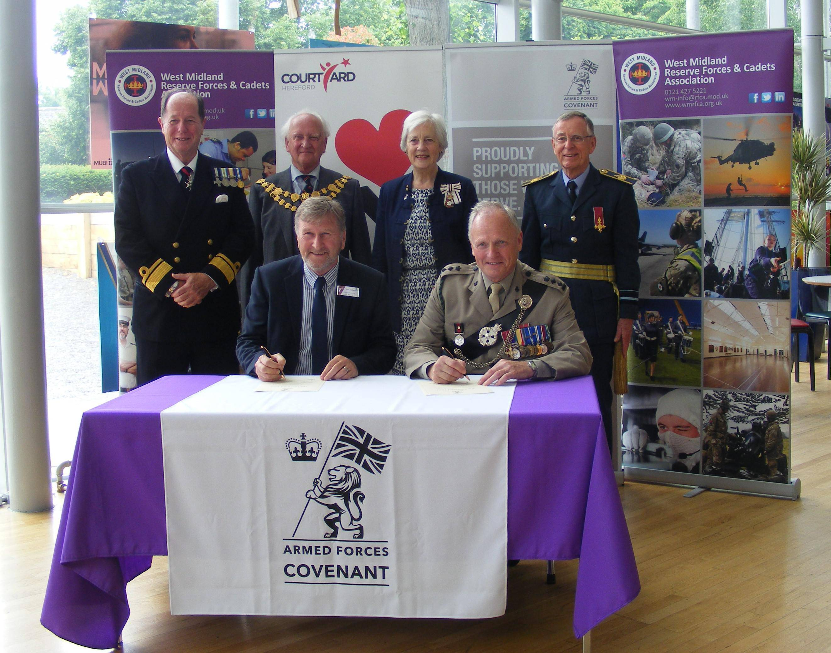 The Courtyard in Hereford became the 46th Herefordshire organisation to sign the Armed Forces covenant