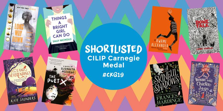 Books on the shortlist for the CILIP Carnegie Medal 2019