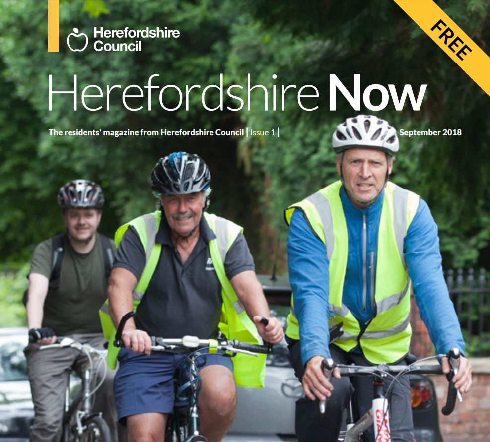 Photo of Herefordshire Now magazine front cover