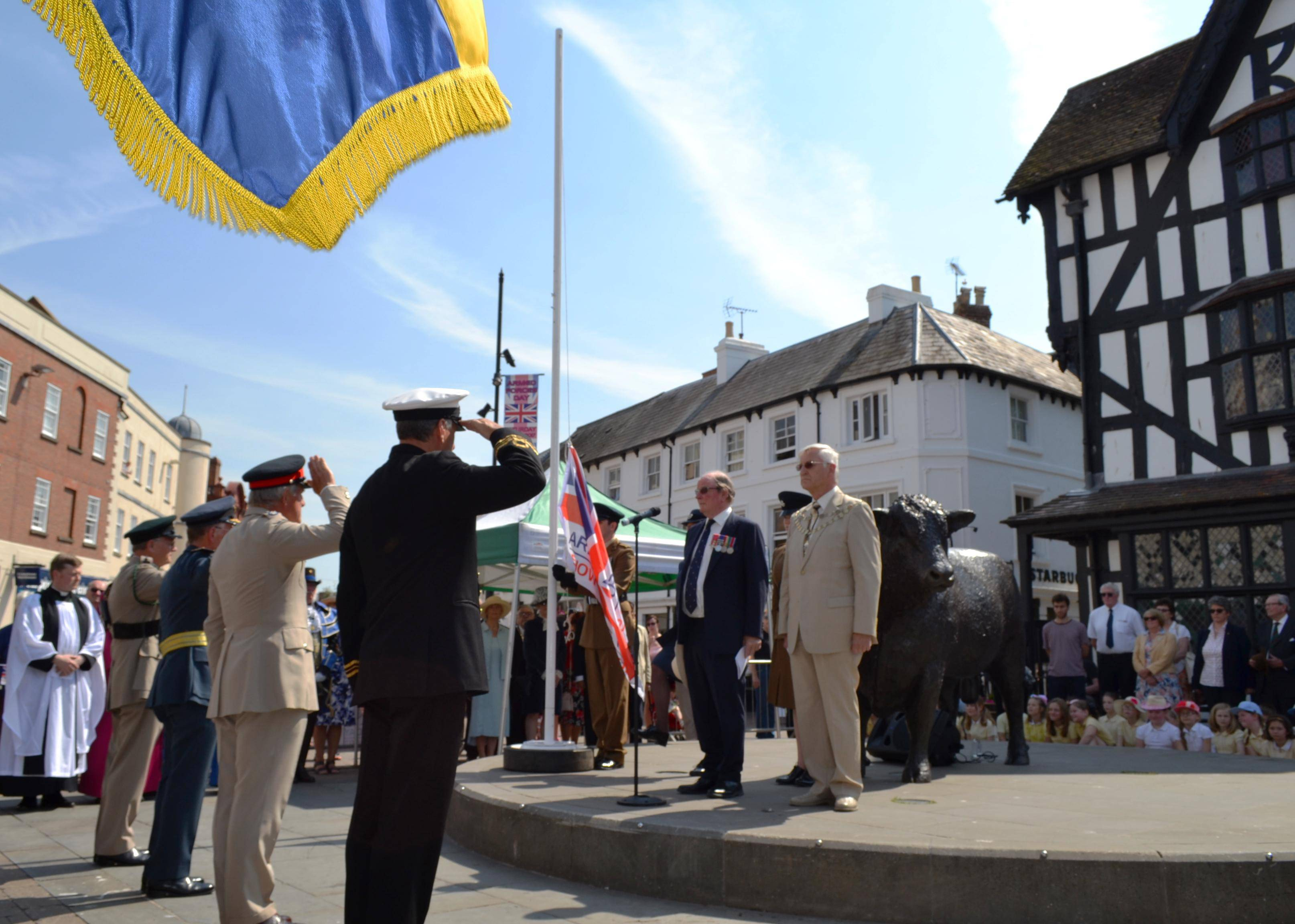 Flag raising in Hereford