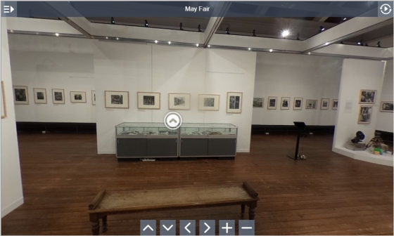 Image taken from the virtual tour of Derek Evans exhibition at Hereford Art Gallery