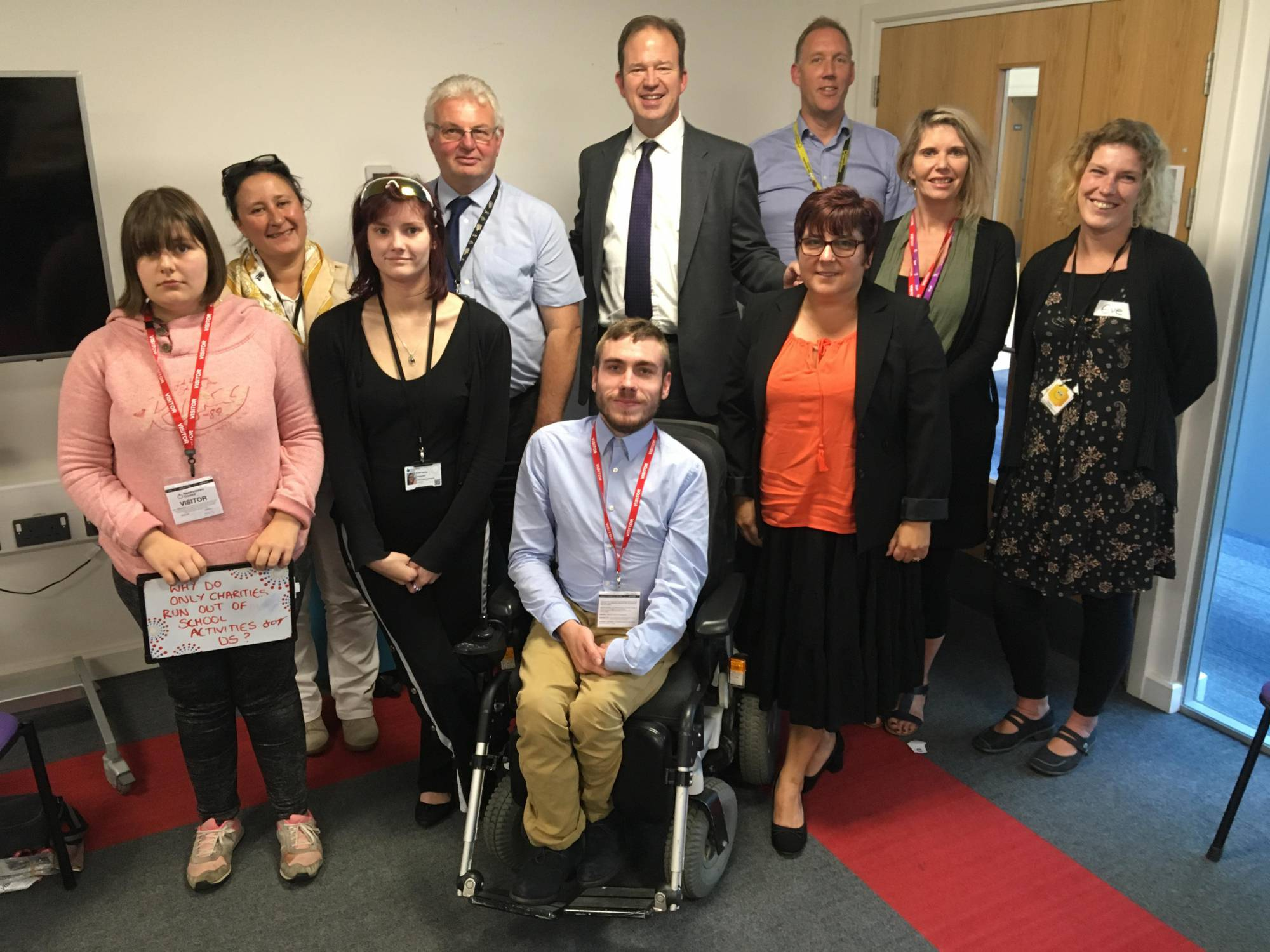 MP Jesse Norman attend young person's disability forum