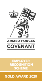 Armed Forces Covenant Employer Recognition Scheme gold award 2020