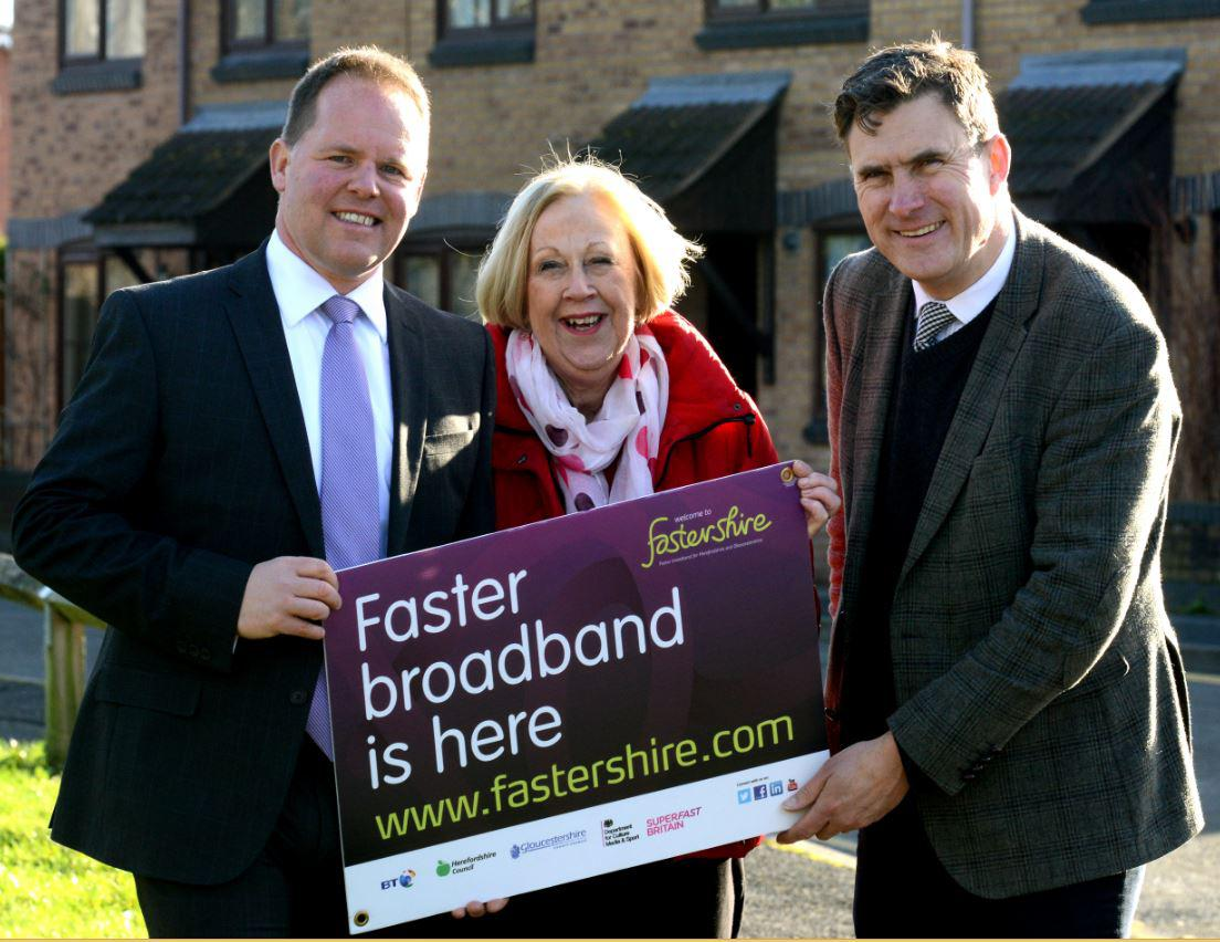 Hundreds of homes and businesses across Hereford can now access superfast broadband for the first time thanks to Fastershire