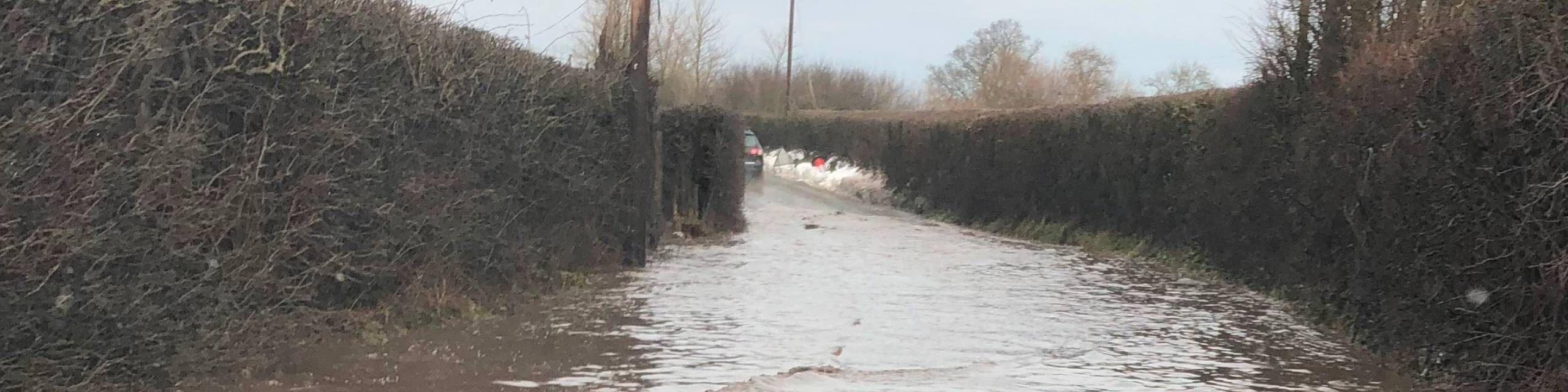Photo of flooded lane