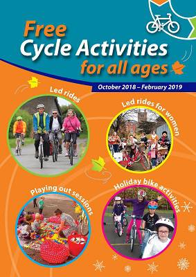 Image of first page of free cycle activities leaflet