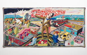 Grayson Perry tapestry The Agony in the Car Park