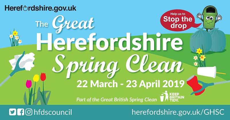 Play your part in the Great Herefordshire Spring Clean