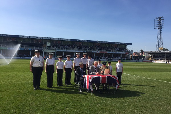 Hereford Football Club signing the Armed Forces Covenant