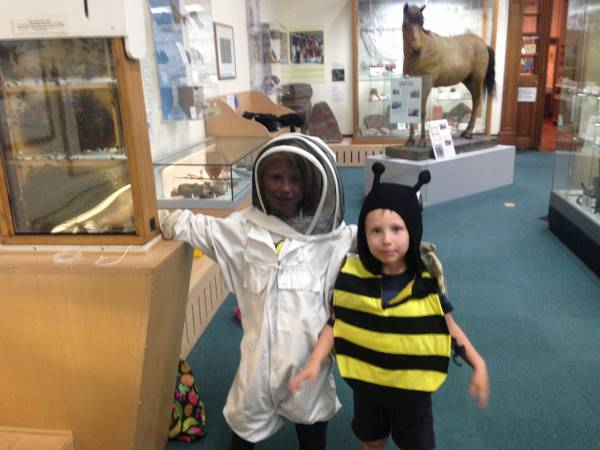 Photo of children dressed as bees at Hereford Museum and Art Gallery