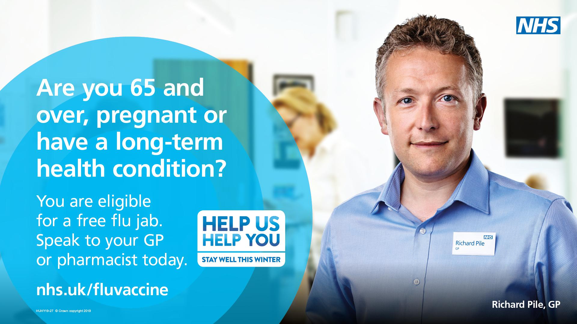 Eligible residents are urged to have a free flu jab