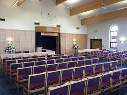 Internal photo of Hereford Crematorium