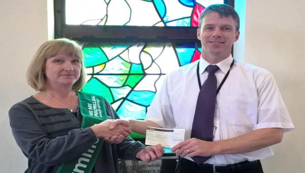 Pictured Emma Garvey, Fundraising Manager - Herefordshire and The Forest of Dean Macmillan Cancer Support and John Gibbon Bereavement and Markets Services Manager