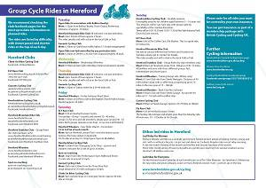 List of cycle clubs and group cycle rides in Hereford