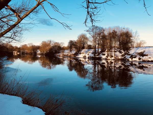 River Wye in ice and snow