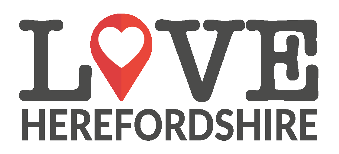 Love Herefordshire logo with heart emoji