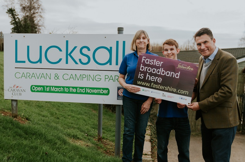 Lucksall campsite expects boost thanks to broadband fastershire