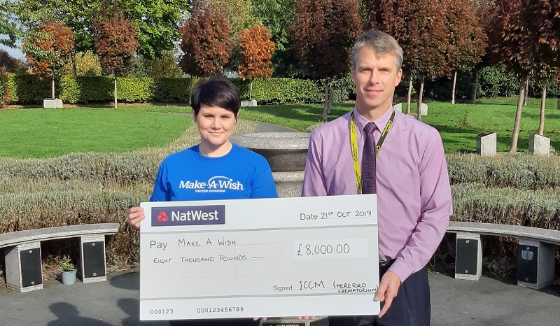 Make-A-Wish receives £8k from Hereford Crematorium