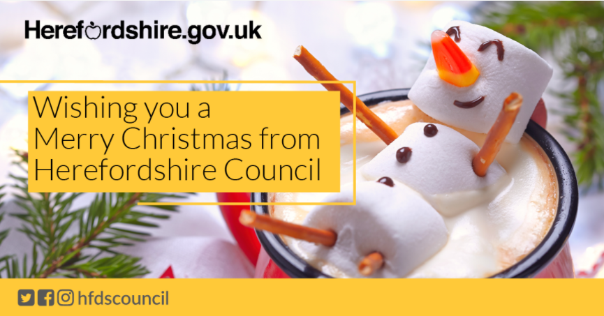 Merry Christmas from Herefordshire Council