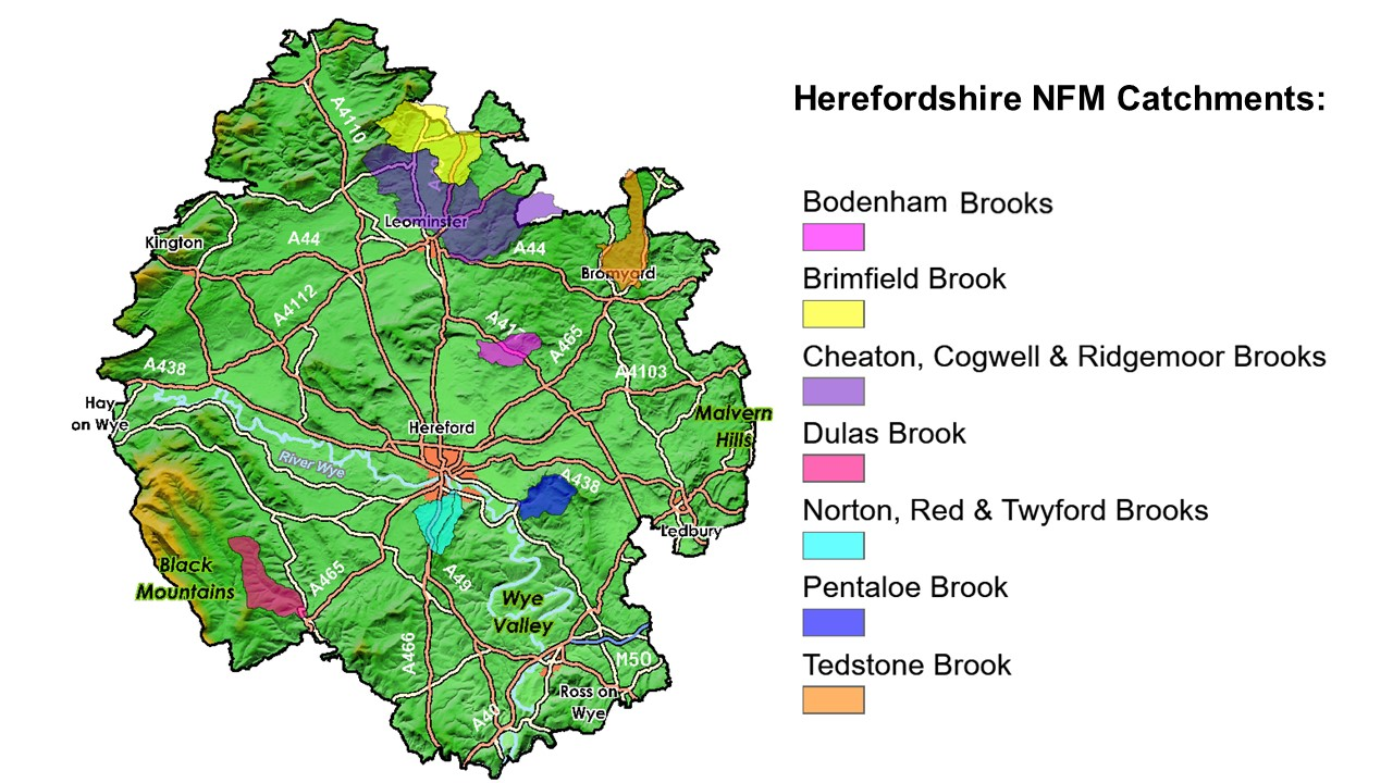 Map showing NFM catchments