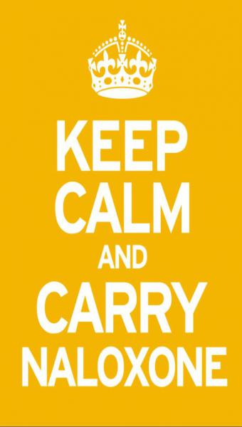 Keep calm and carry Naloxone image