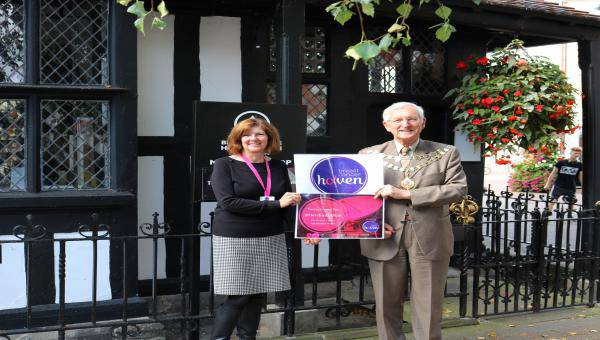 Councillor Brian Wilcox and Alison Palfrey from Breast Cancer Haven