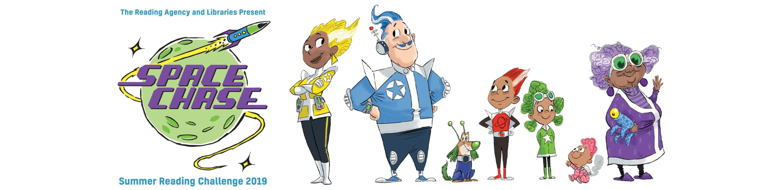 The Rocket Family summer reading challenge characters
