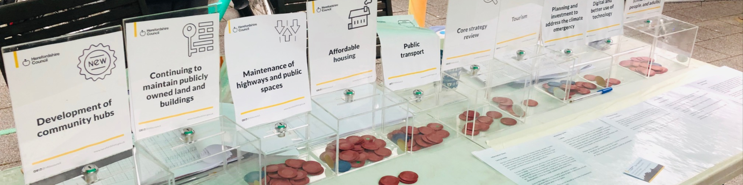Token voting boxes