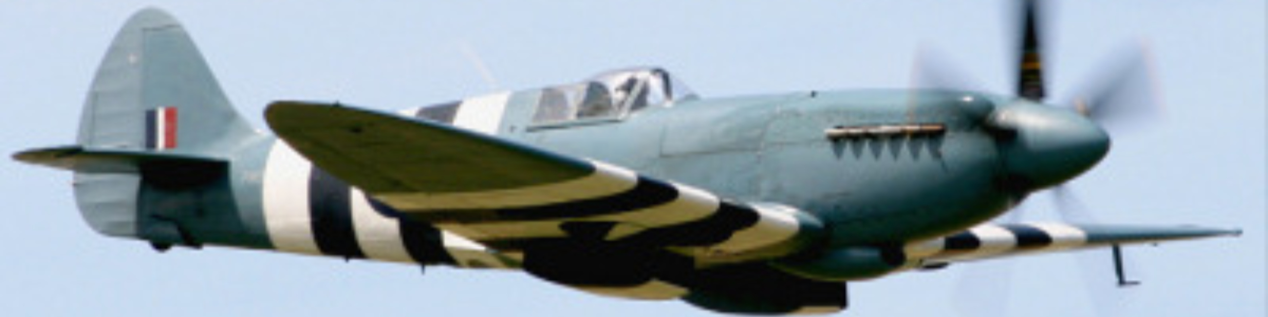 Spitfire Mk 19 flying in the sky