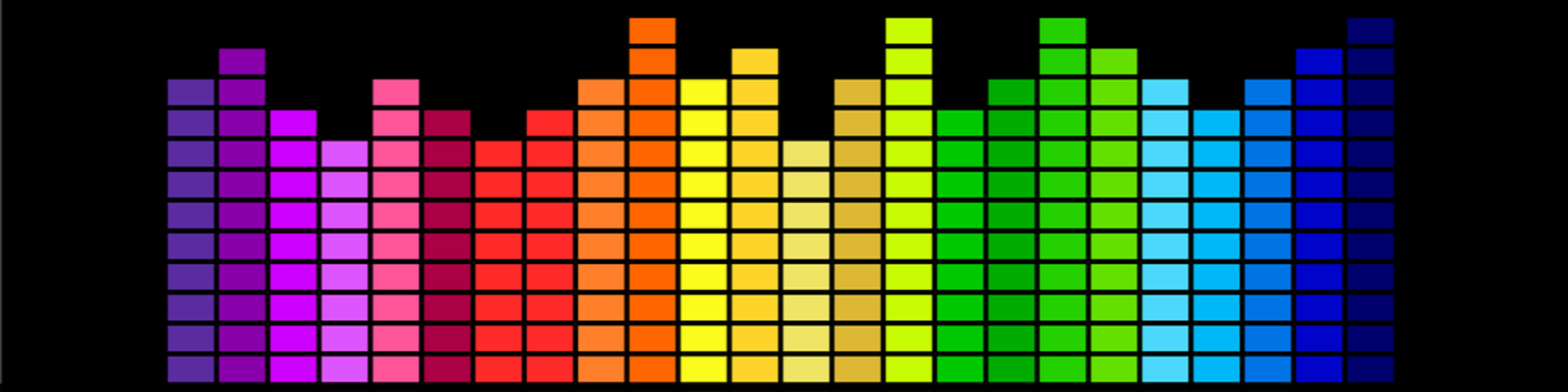 rainbow graphic equaliser illustration