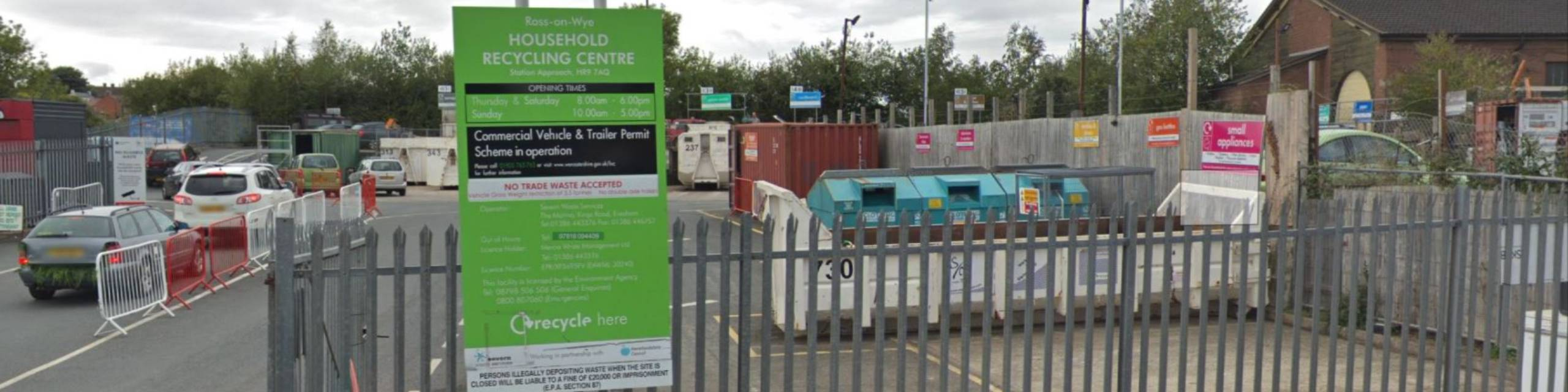 Newsroom banner for Ross-on-Wye Household Recycling Centre