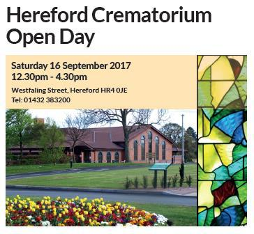 Crematorium open day poster