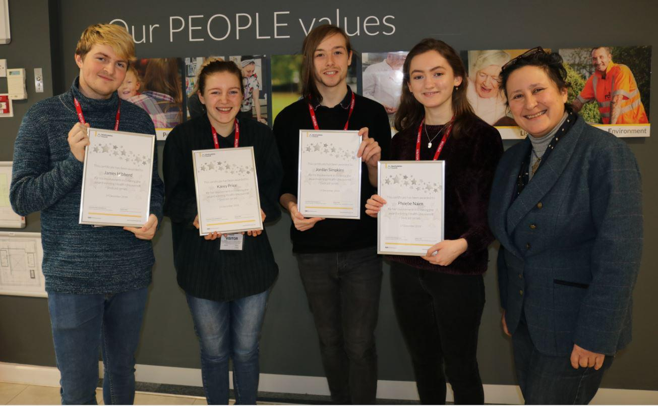 Four Herefordshire young people recognised for their contributions towards an award winning podcast