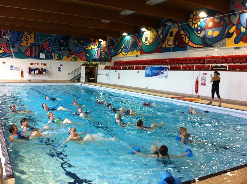 People enjoying a swim in Ross swimming pool