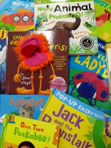 image of front covers of a number of titles from the sensory book collection