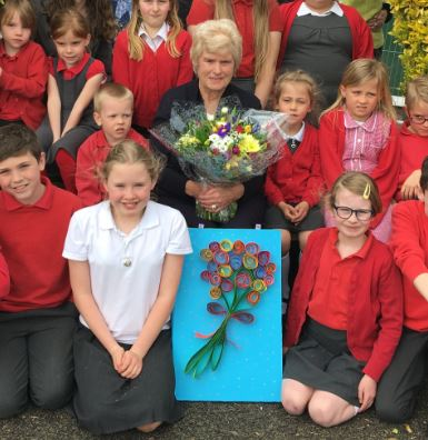 Popular member of staff at Much Birch Primary retires after nearly 50 years service.