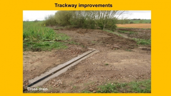 NFM Trackway improvements project image of cross drain