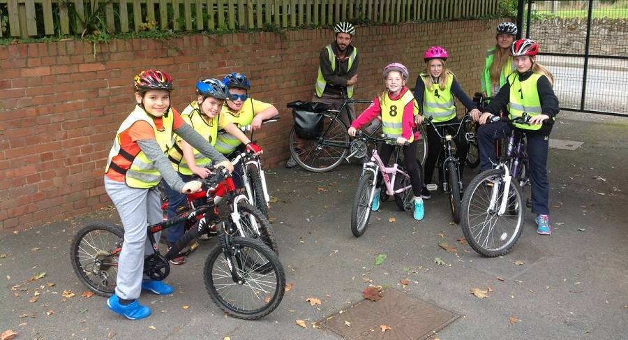 Cycle lesson at Wellington Primary School