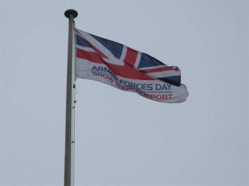 Afd flag flying