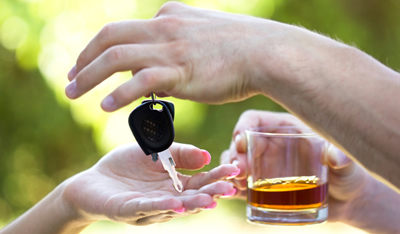 Picture of a drinker handing over their car keys