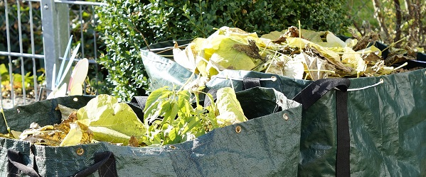 Green garden waste for composting